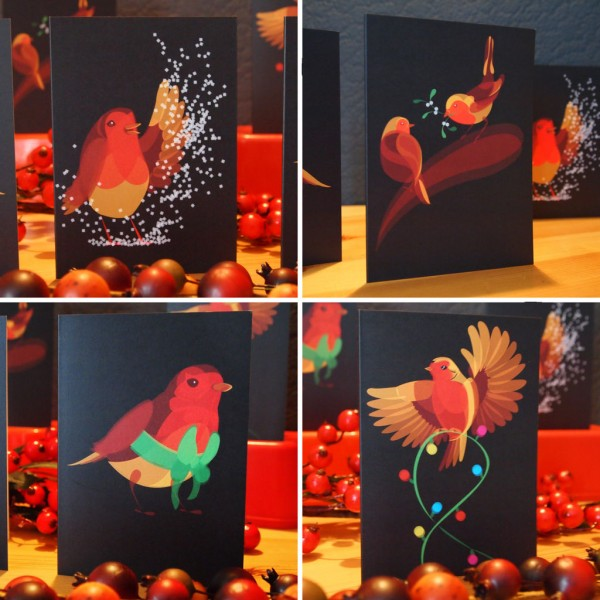 Christmas Cards Set by Ben O'Brien via You The Designer