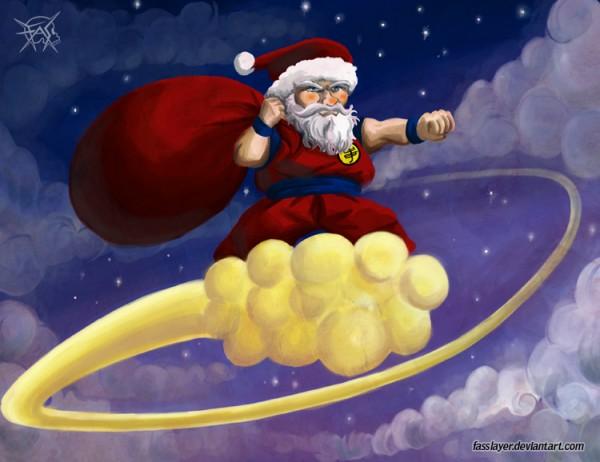 santa claus with goku stuffs by FASSLAYER