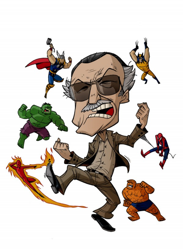 """CARICATURES: STAN LEE"" by Zuccarello"