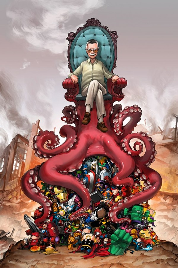 """Stan Lee's OctoThrone for Comikaze"" by camilladerrico"