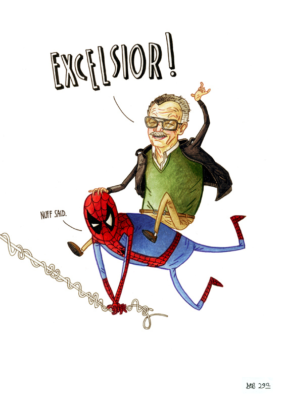 """Stan Lee and Spidey"" by dsb"