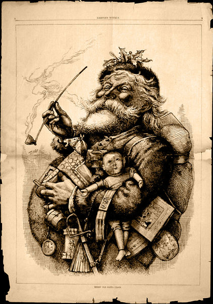 """""""Merry Old Santa Claus"""" - Caricature by Thomas Nast"""