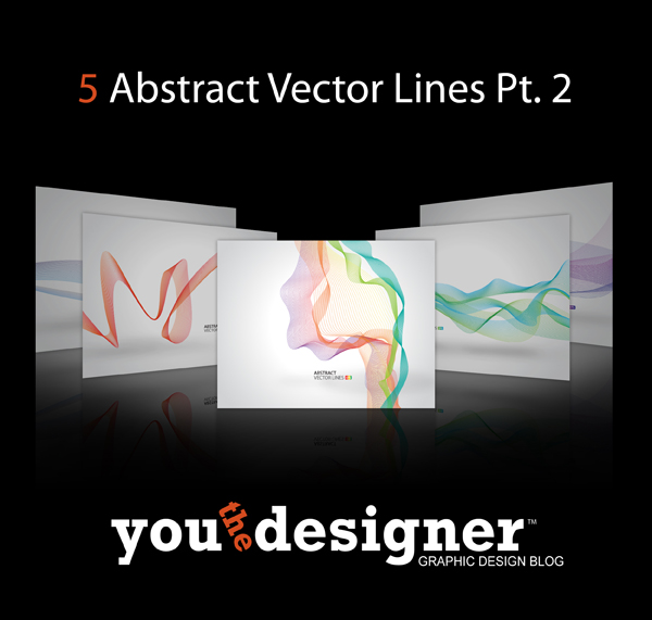 5 Abstract Vector Lines Part 2 by YouTheDesigner