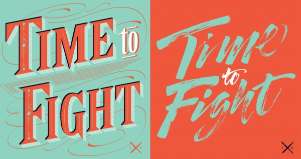 Time To Fight postcards