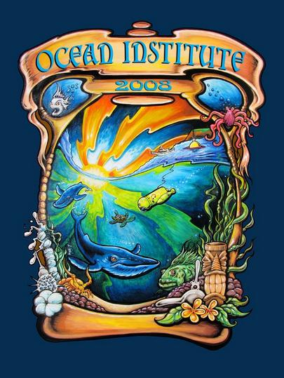 Program art for Ocean Institute's Summer Adventure Brochures and signage | (c) Drew Brophy
