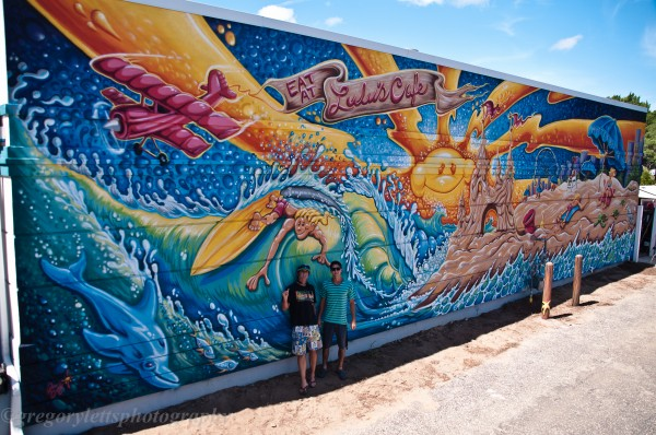 LULU's Cafe Mural Photo by Greg Letts | (c) Drew-Brophy and Ian Orsos