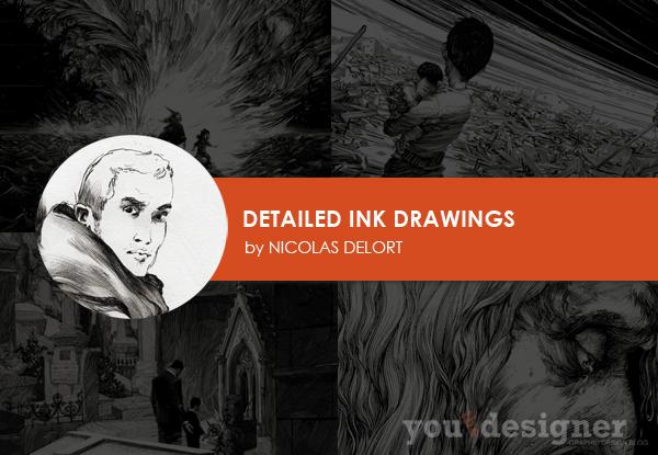 Detailed Ink Drawings by Nicolas Delort