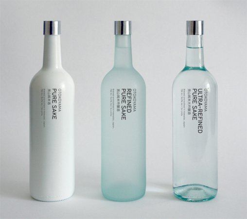 Otokoyama Sake, A Simple, Minimalist and Classy Sake Packaging on Vizeer.com