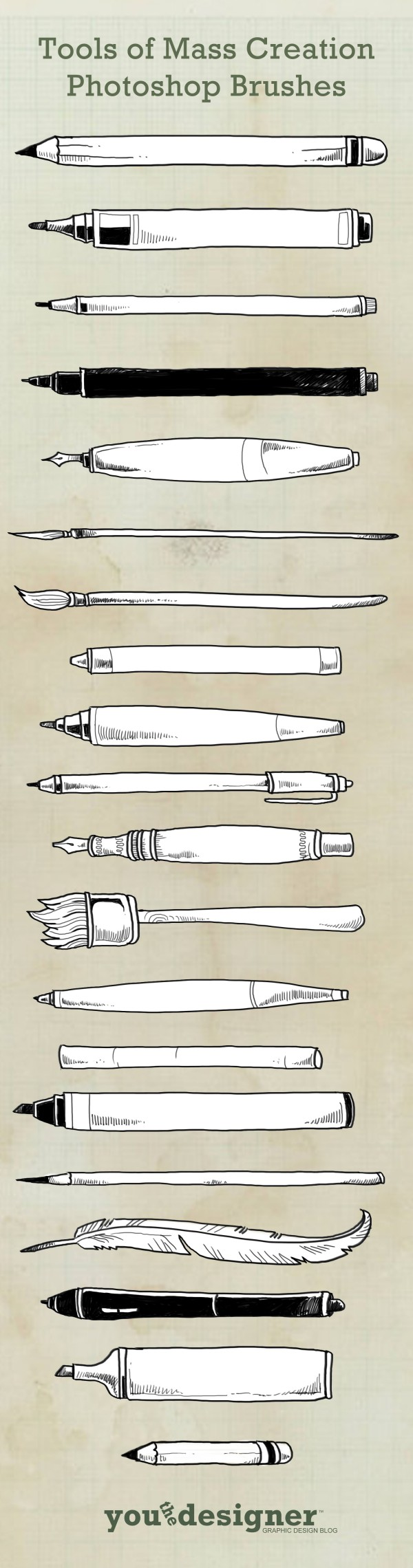 Tools of Mass Creation Photoshop Brushes by You The Designer