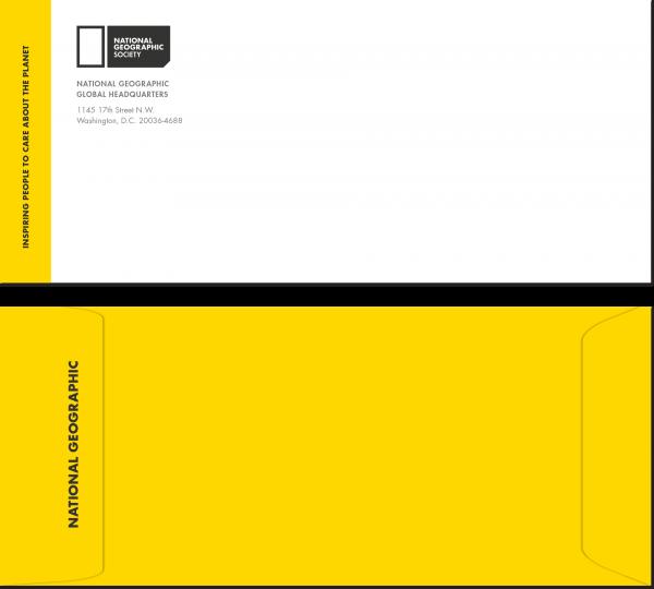 NatGeo Rebranding Project | Envelopes