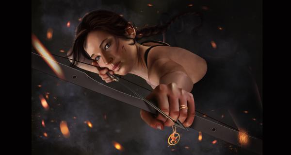 Katniss Everdeen: the Mockingjay by Aida-Art