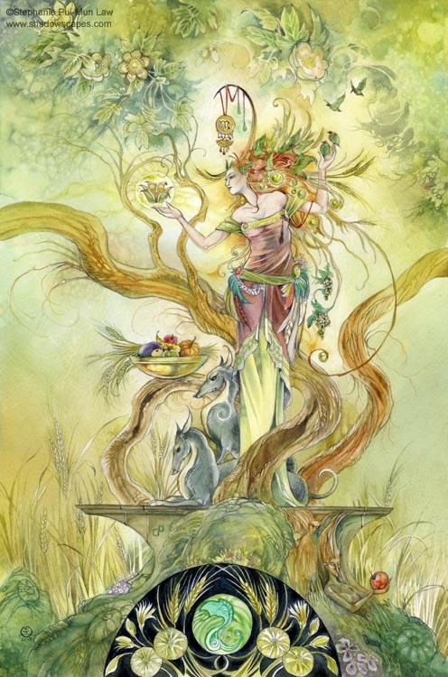 """""""Virgo""""   © Stephanie Law   Llewellyn Astrological Calendar 2011"""