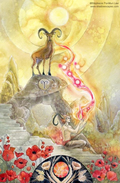 """""""Aries""""   © Stephanie Law   Llewellyn Astrological Calendar 2011"""