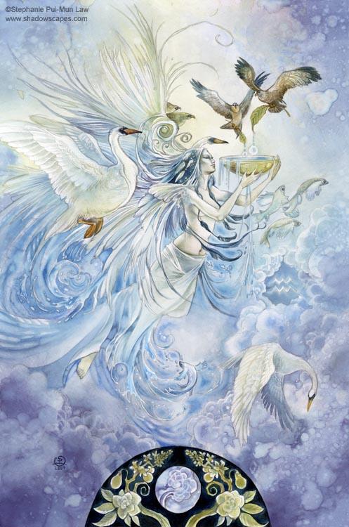 """""""Aquarius""""   © Stephanie Law   Llewellyn Astrological Calendar 2011"""