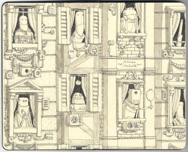 Sketchbook Spreads by Mattias Adolfsson