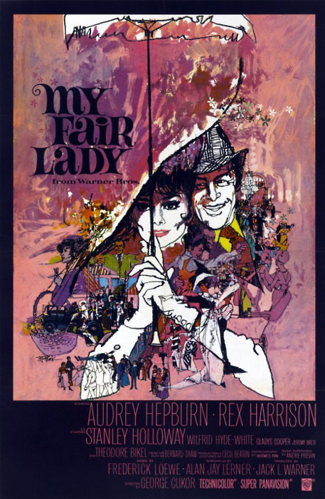 My Fair Lady poster design by Bill Gold