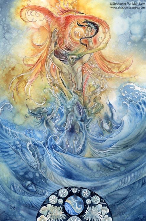 """""""Scorpio""""   © Stephanie Law   Llewellyn Astrological Calendar 2011"""