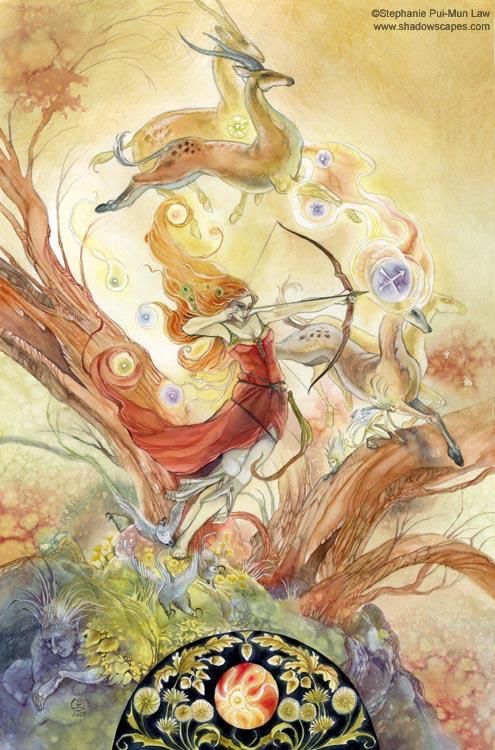 """""""Sagittarius""""   © Stephanie Law   Llewellyn Astrological Calendar 2011"""