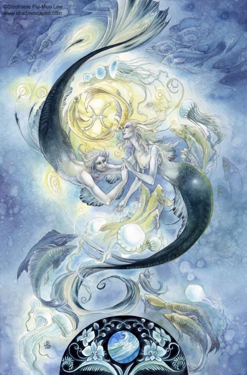 """Pisces""   © Stephanie Law   Llewellyn Astrological Calendar 2011"