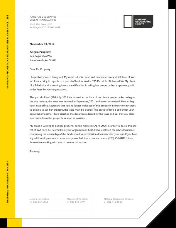 NatGeo Rebranding Project | Letterhead