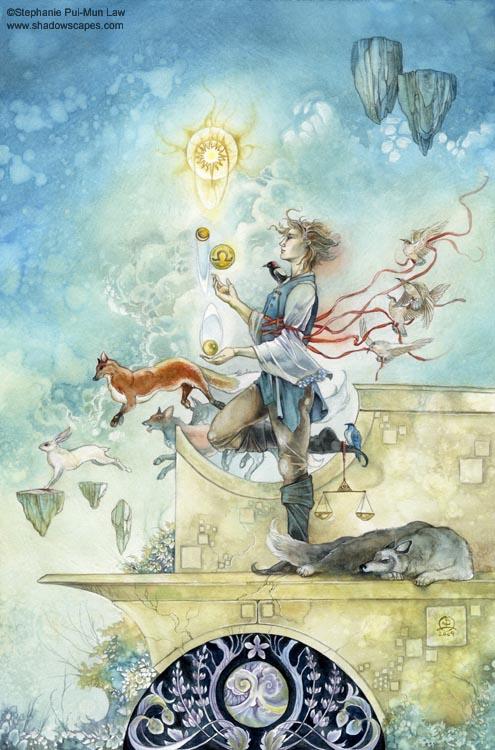 """""""Libra""""   © Stephanie Law   Llewellyn Astrological Calendar 2011"""