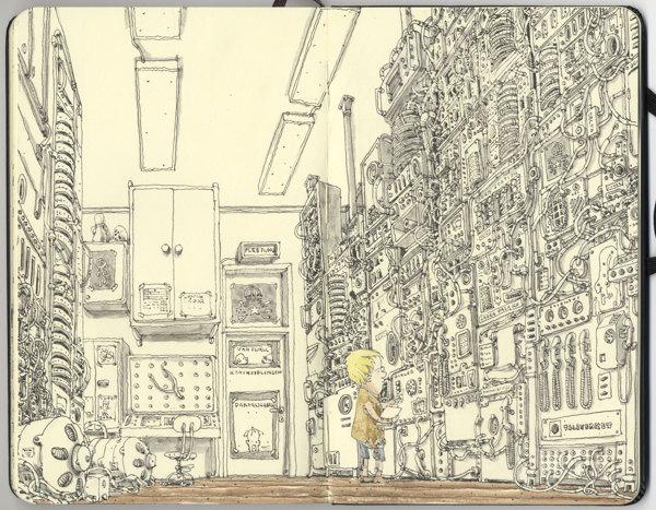 Sketchbook Spreads by Mattias Adolfsson