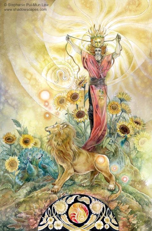 """""""Leo""""   © Stephanie Law   Llewellyn Astrological Calendar 2011"""