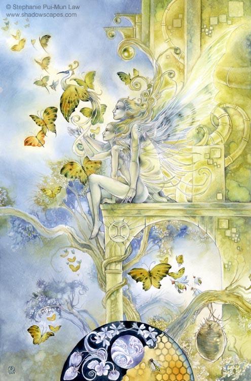 """""""Gemini""""   © Stephanie Law   Llewellyn Astrological Calendar 2011"""