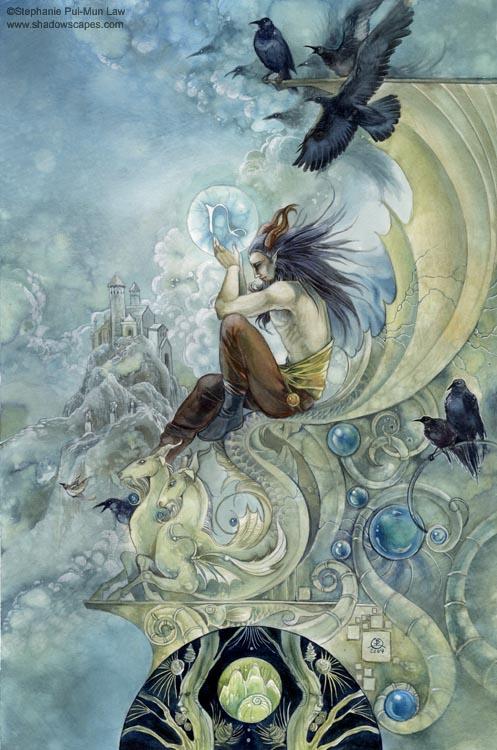 """""""Capricorn""""   © Stephanie Law   Llewellyn Astrological Calendar 2011"""