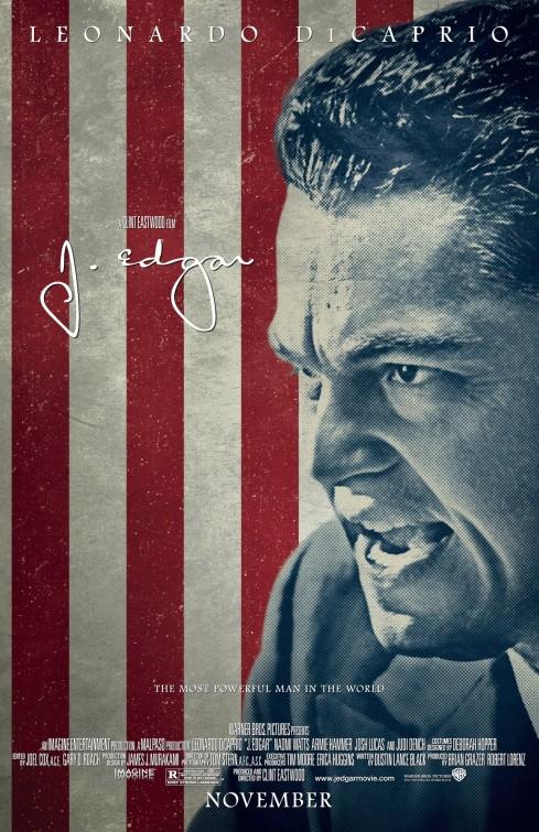 J. Edgar poster design by Bill Gold