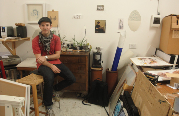 Carne Griffiths in his studio