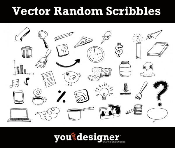 Free Vector Random Scribbles