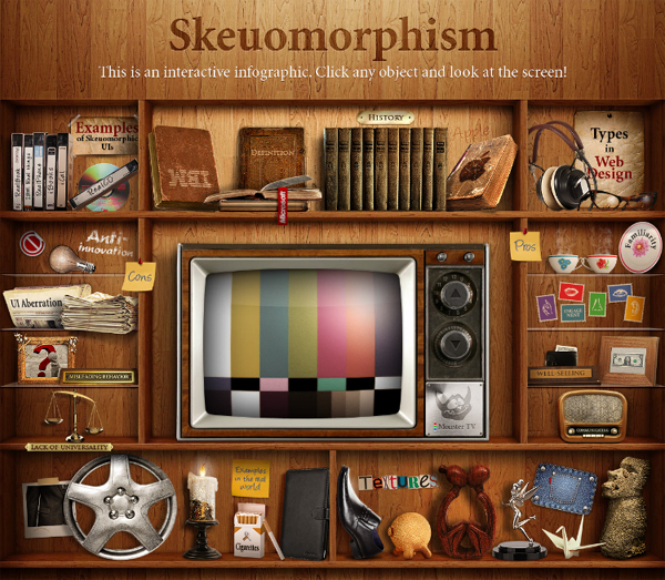 Infographic: Skeuomorphism in Web Design