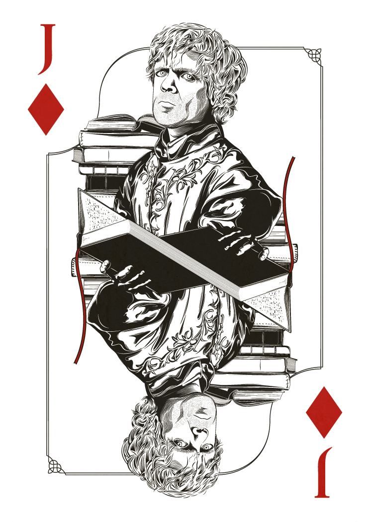 Game Of Thrones Playing Cards Project by Jim Tuckwell via You The Designer
