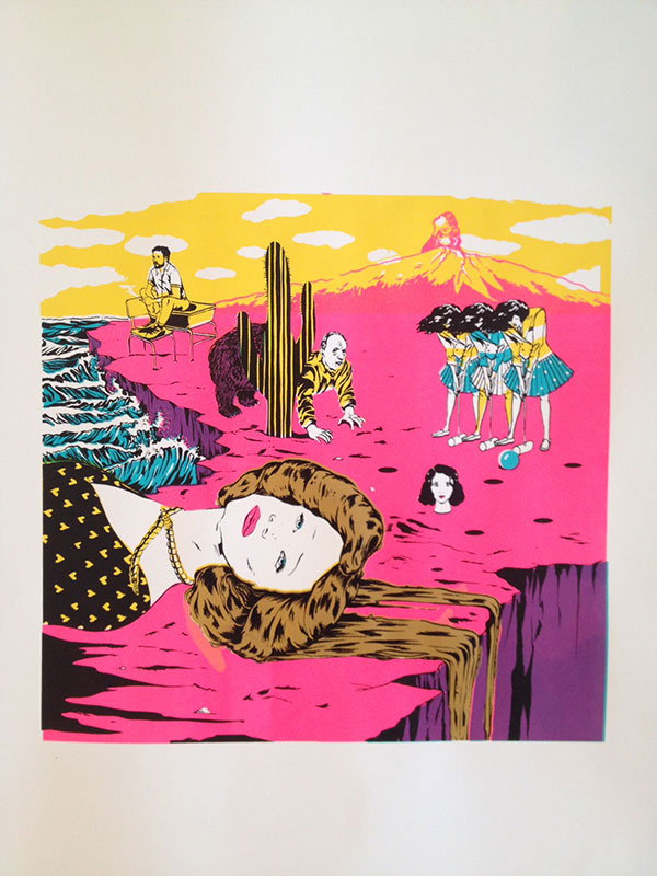 """""""When the Earth was Still Flat,"""" (4 colour silkscreen) Sundance Film Festival A to Z/Todd Oldham Studios 