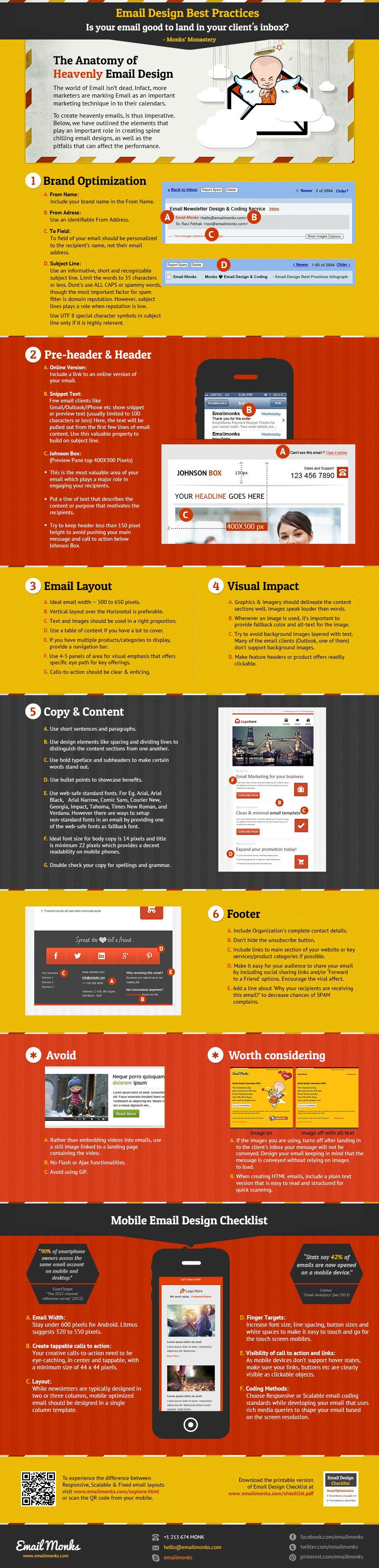 Email Newsletter Design Best Practises Infographic