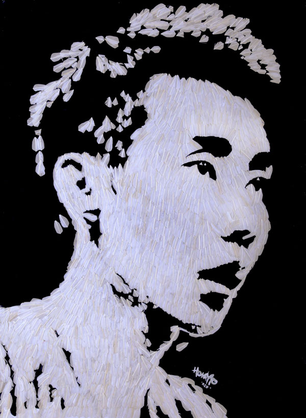 Lee Chong Wei's portrait by Hong Yi