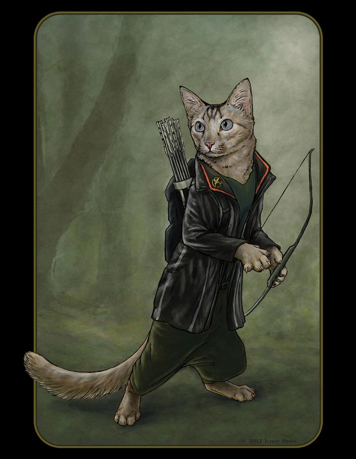 Catniss   Jenny Parks Illustration