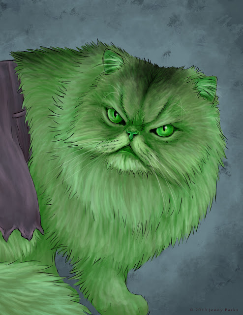 Hulkitty   Jenny Parks Illustration