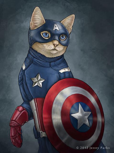 Captain Catmerica   Jenny Park Illustration