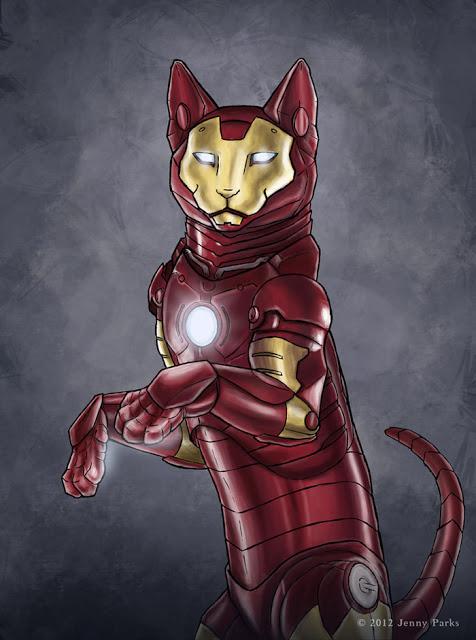 Iron Cat   Jenny Parks Illustration