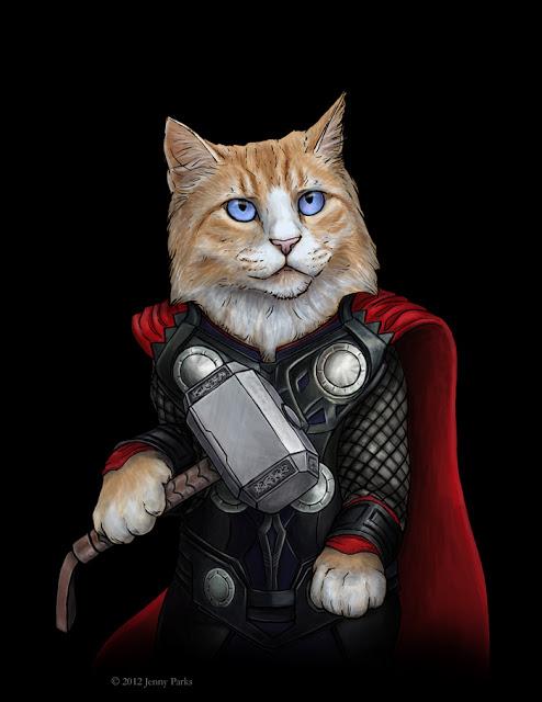 Thor   Jenny Parks Illustration