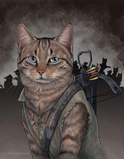 Daryl Dixon   Jenny Parks Illustration
