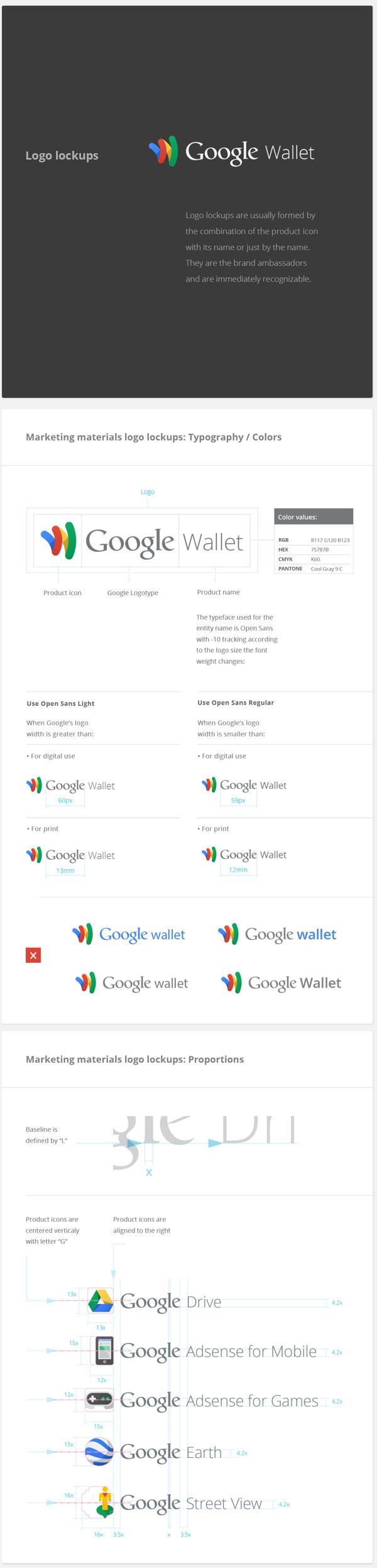 Google Visual Assets Guidelines | Logo Mockups