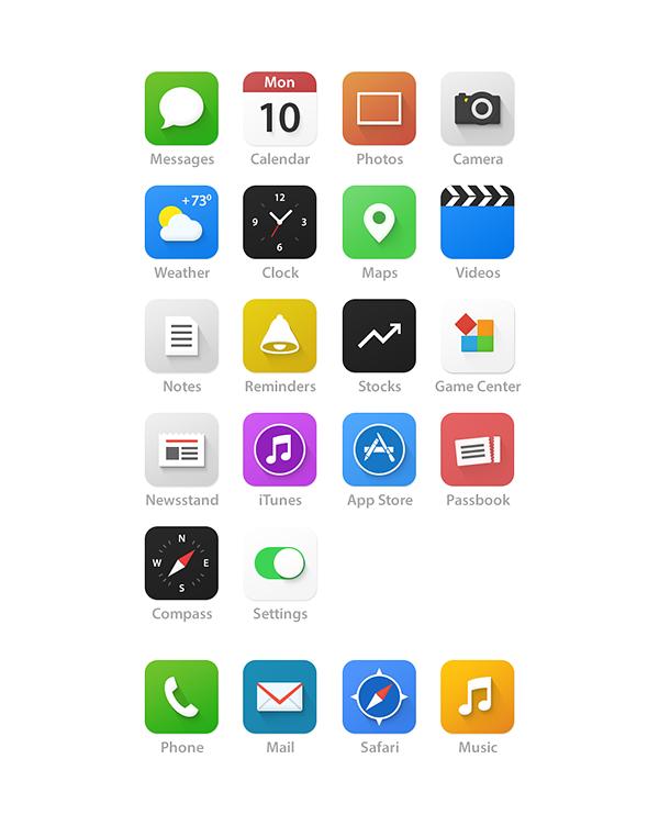 iOS7 Homescreen UI Redesign by Dmitry Kovalenko