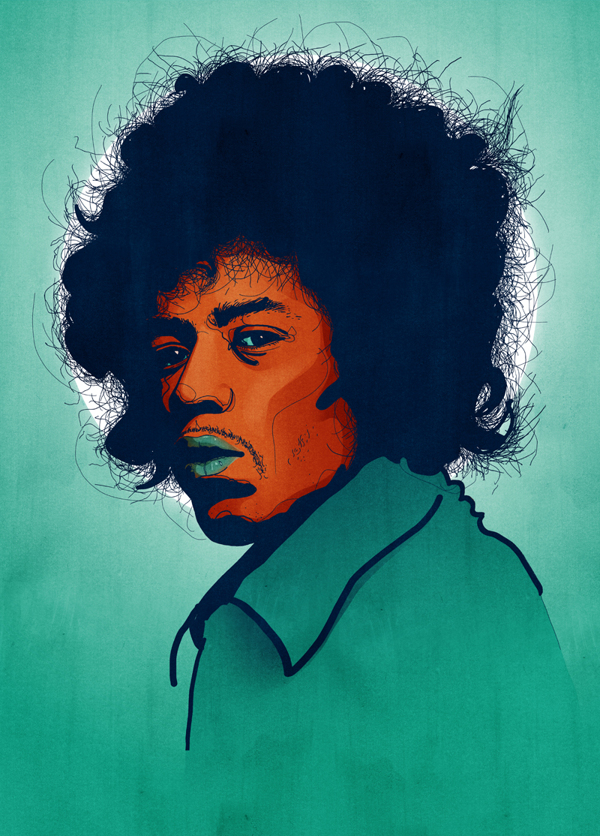 Jimi Hendrix portrait | Tobias Hall