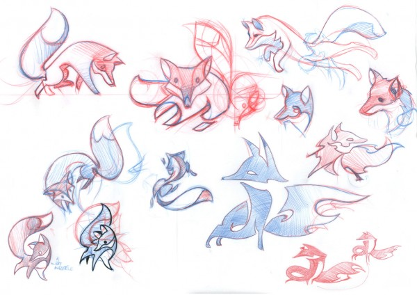Firefox OS Brand Mascots | Early Sketches