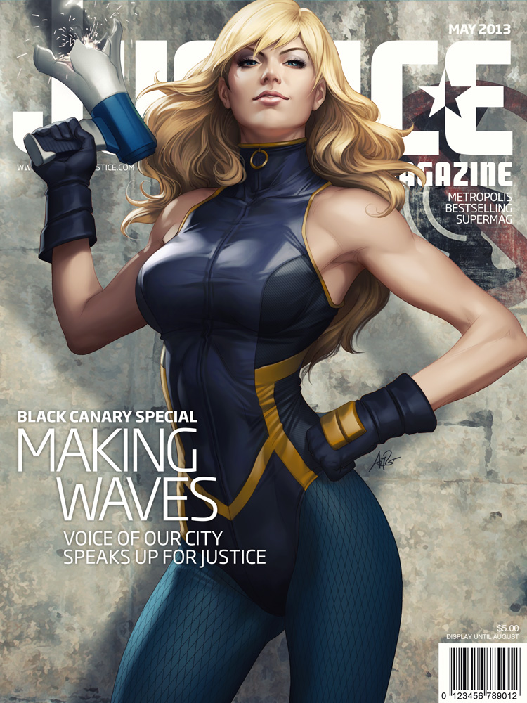 Justice Mag - Black Canary by Artgerm