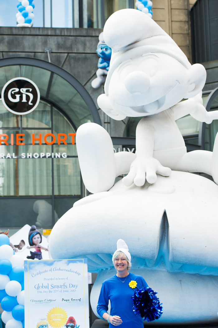 Global Smurfs Day in Belgium