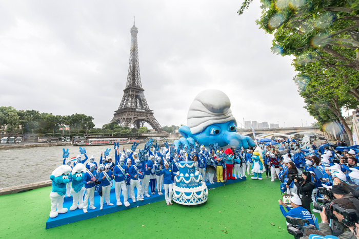 Global Smurfs Day in France